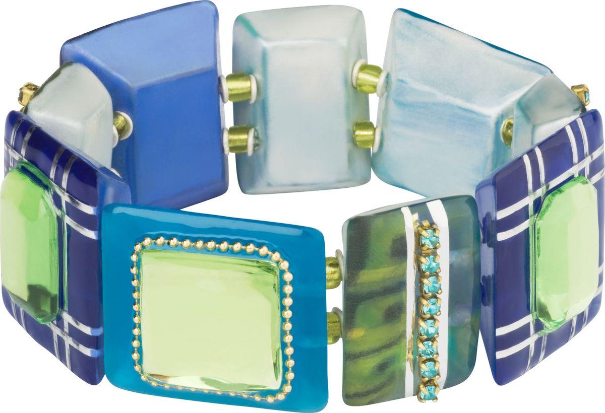 Браслет Lalo Treasures, цвет: синий, голубой. B2501B2501Яркие дизайнерские акссесуары от Lalo Treasures станут отличным дополнением к Вашему стилю