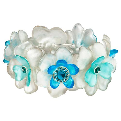 Браслет Lalo Treasures, цвет: белый, голубой. B2541B2541Яркие дизайнерские акссесуары от Lalo Treasures станут отличным дополнением к Вашему стилю
