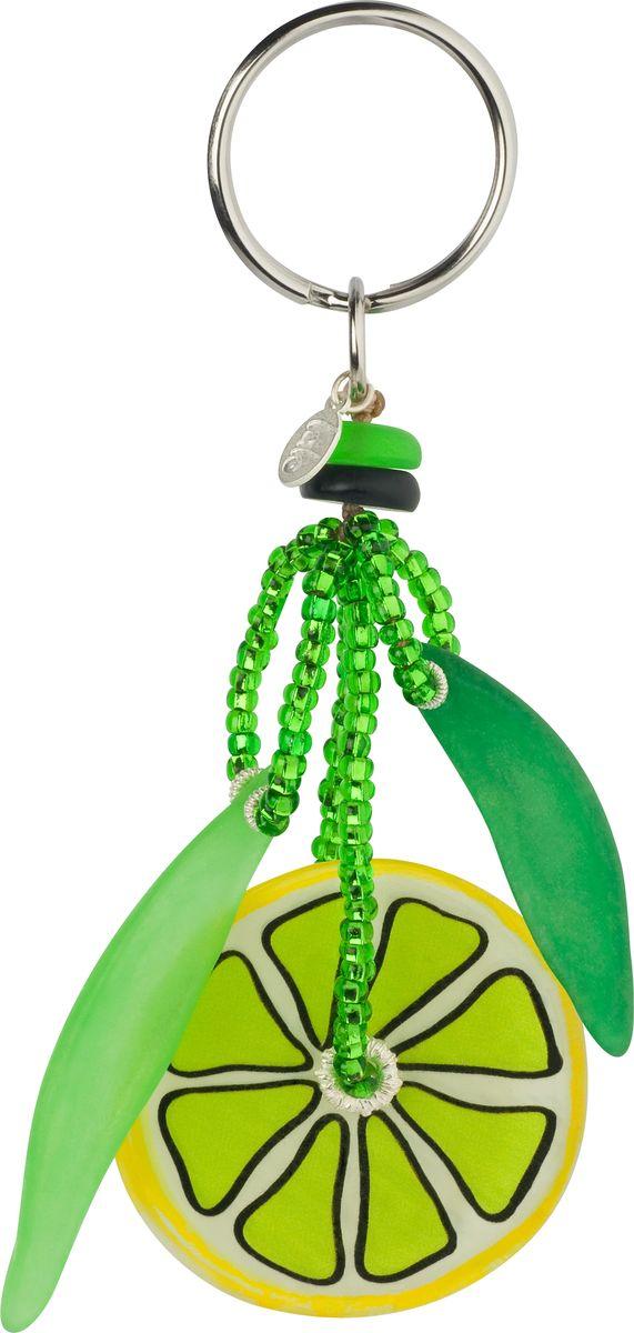 Брелок Lalo Treasures, цвет: желтый, зеленый. KR4842KR4842Яркие дизайнерские акссесуары от Lalo Treasures станут отличным дополнением к Вашему стилю