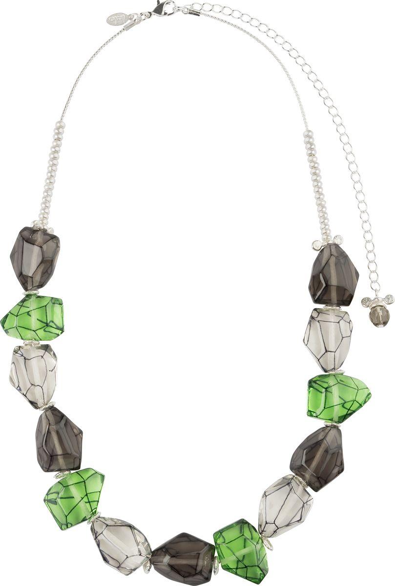 Ожерелье Lalo Treasures, цвет: зеленый, серый. N1462N1462Яркие дизайнерские акссесуары от Lalo Treasures станут отличным дополнением к Вашему стилю