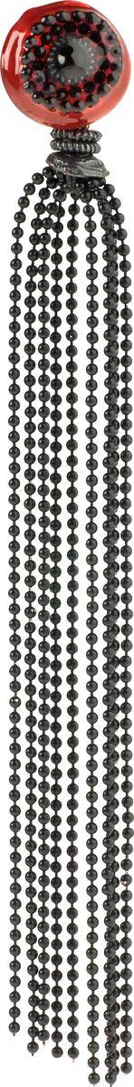 Серьги Lalo Treasures, цвет: черный, красный. E3448/2E3448/2Яркие дизайнерские акссесуары от Lalo Treasures станут отличным дополнением к Вашему стилю