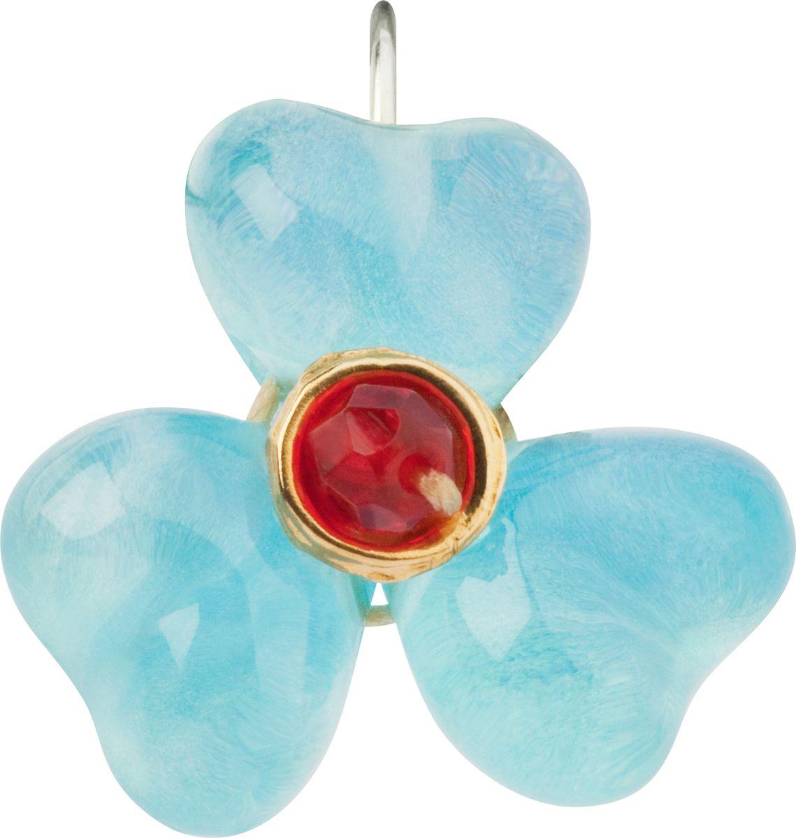 Серьги Lalo Treasures, цвет: голубой, красный. E3486/2E3486/2Яркие дизайнерские акссесуары от Lalo Treasures станут отличным дополнением к Вашему стилю