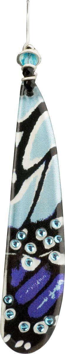 Серьги Lalo Treasures, цвет: голубой, черный. E3500/2E3500/2Яркие дизайнерские акссесуары от Lalo Treasures станут отличным дополнением к Вашему стилю