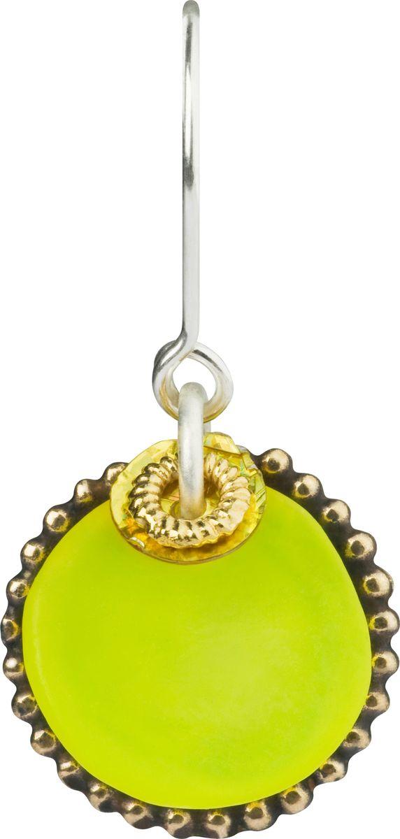 Серьги Lalo Treasures, цвет: светло-зеленый, золотой. E3502/5E3502/5Яркие дизайнерские акссесуары от Lalo Treasures станут отличным дополнением к Вашему стилю
