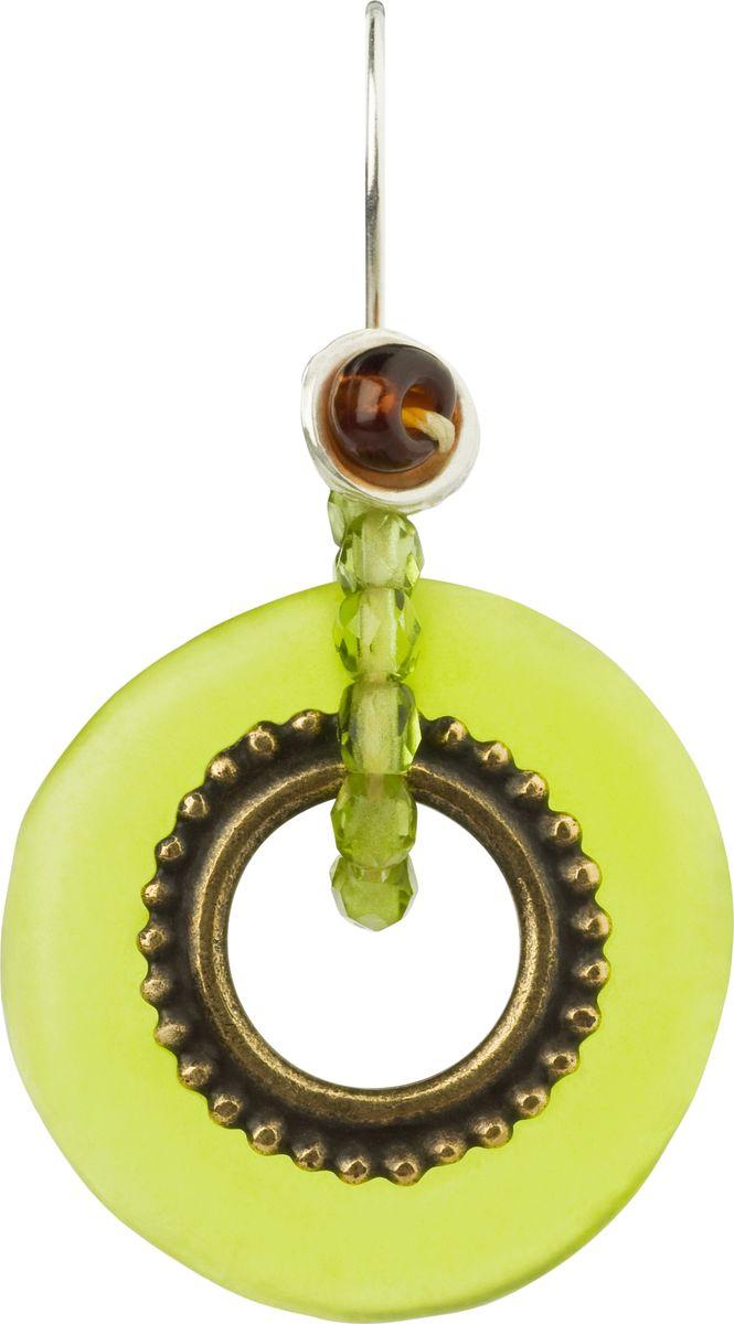 Серьги Lalo Treasures, цвет: светло-зеленый. E3502/4E3502/4Яркие дизайнерские акссесуары от Lalo Treasures станут отличным дополнением к Вашему стилю