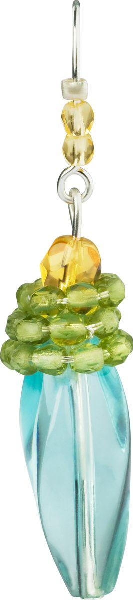 Серьги Lalo Treasures, цвет: голубой, зеленый. E3506/3E3506/3Оригинальные серьги Lalo Treasures изготовлены из металлического сплава, дополнены декоративными элементами из ювелирной смолы. Изделие застегивается на замок-пряжка, который надежно зафиксирует серьги. Стильные серьги не оставят равнодушной ни одну любительницу изысканных украшений и помогут создать собственный неповторимый образ.