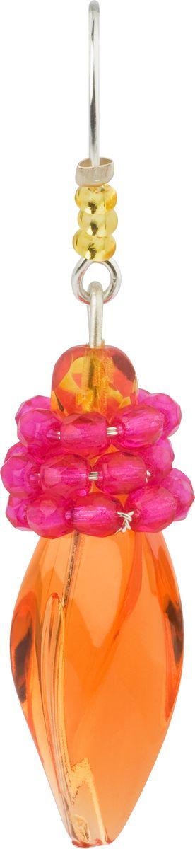 Серьги Lalo Treasures, цвет: оранжевый, розовый. E3507/3E3507/3Оригинальные серьги Lalo Treasures изготовлены из металлического сплава, дополнены декоративными элементами из ювелирной смолы. Изделие застегивается на замок-пряжка, который надежно зафиксирует серьги. Стильные серьги не оставят равнодушной ни одну любительницу изысканных украшений и помогут создать собственный неповторимый образ.