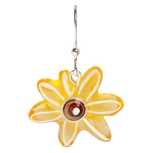 Серьги Lalo Treasures, цвет: желтый. E3537/1E3537/1Яркие дизайнерские акссесуары от Lalo Treasures станут отличным дополнением к Вашему стилю