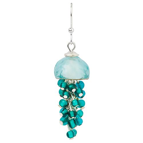 Серьги Lalo Treasures, цвет: бирюзовый. E3537/4E3537/4Яркие дизайнерские акссесуары от Lalo Treasures станут отличным дополнением к Вашему стилю