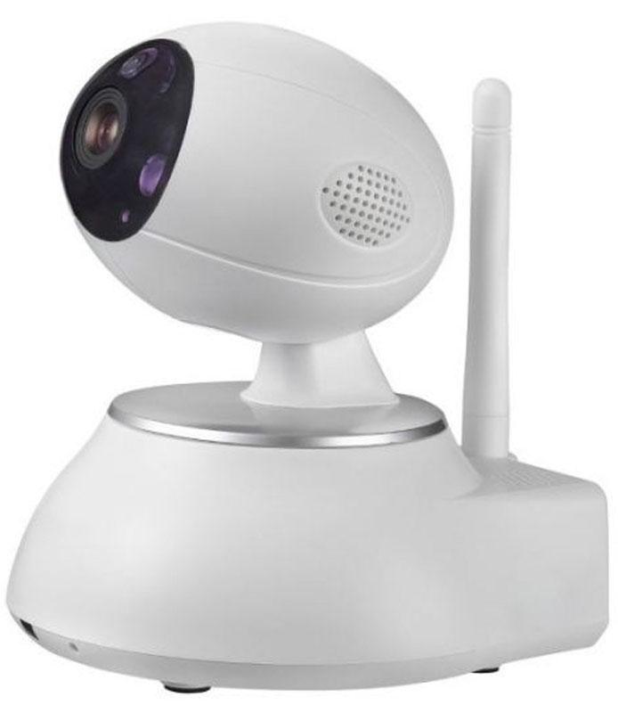 Sapsan IP-Cam iEVE Wi-Fi камера9000Wi-Fi камера Sapsan IP-Cam iEVE - бюджетная комнатная сетевая видеокамера с возможностью контроля и записи по срабатыванию подключенных к ней беспроводных датчиков. Подходит для онлайн контроля за помещениями, в том числе складов с температурой до -10°С. IP-Cam iEVE может поворачиваться по горизонтали до 355°, а по вертикали на 120°, так что камера может видеть все помещение, а управлять можно из любой точки мира. В камере есть встроенный микрофон и динамик, позволяющий вести не только запись звука, но и иметь обратную связь с помещением. Например расположив камеру в комнате ребенка вы не только будете слышать его , но и иметь возможность успокоить ребенка, или просто поговорить с ним. Wi-Fi камера с качеством 1280 на 720 пикселей, может вести запись при скорости 25 кадров в секунду. Запись видео на MicroSD размером до 128 Гб происходит циклично. Архива в качестве HD хватает на 10 суток в лучшем качестве, и на 30 суток в среднем качестве. Архив можно...