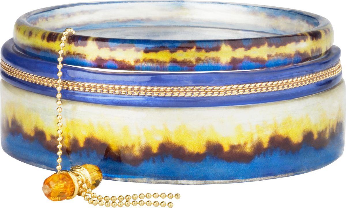 Браслет Lalo Treasures, цвет: коричневый, синий. Bn2522/2Bn2522/2Яркие дизайнерские акссесуары от Lalo Treasures станут отличным дополнением к Вашему стилю