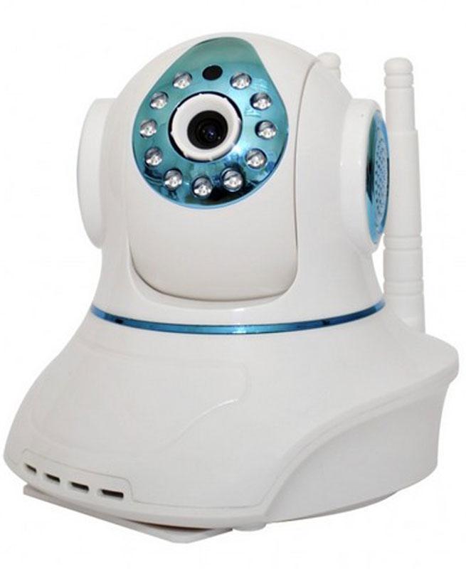 Sapsan Pro 8 Wi-Fi камера9060Wi-Fi камера Sapsan Pro 8 - комнатная сетевая видеокамера с возможностью контроля и записи по срабатыванию подключенных к ней беспроводных датчиков. IP камера может поворачиваться по горизонтали до 355°, а по вертикали на 120°, так что она может видеть все помещение, а управлять ей можно из любой точки мира. Помимо этого, изображение воспроизводимое на устройствах автоматически переворачивается. Wi-Fi камера не требует драйверов и выделенного адреса. А настройка осуществляется по технологии Sonic Transfer Convenient. Встроенный детектор движения помогает заснять нарушение в зоне видимости камеры в первые же секунды. 8 беспроводных зон с возможностью подключения до 64 радиодатчиков. При срабатывании датчика включится запись по тревоге (устанавливается в настройках), а также будет поступать тревожный звуковой сигнал на приложение в вашем планшете или смартфоне (если приложение в данный момент работает). Видеокамера имеет встроенную...