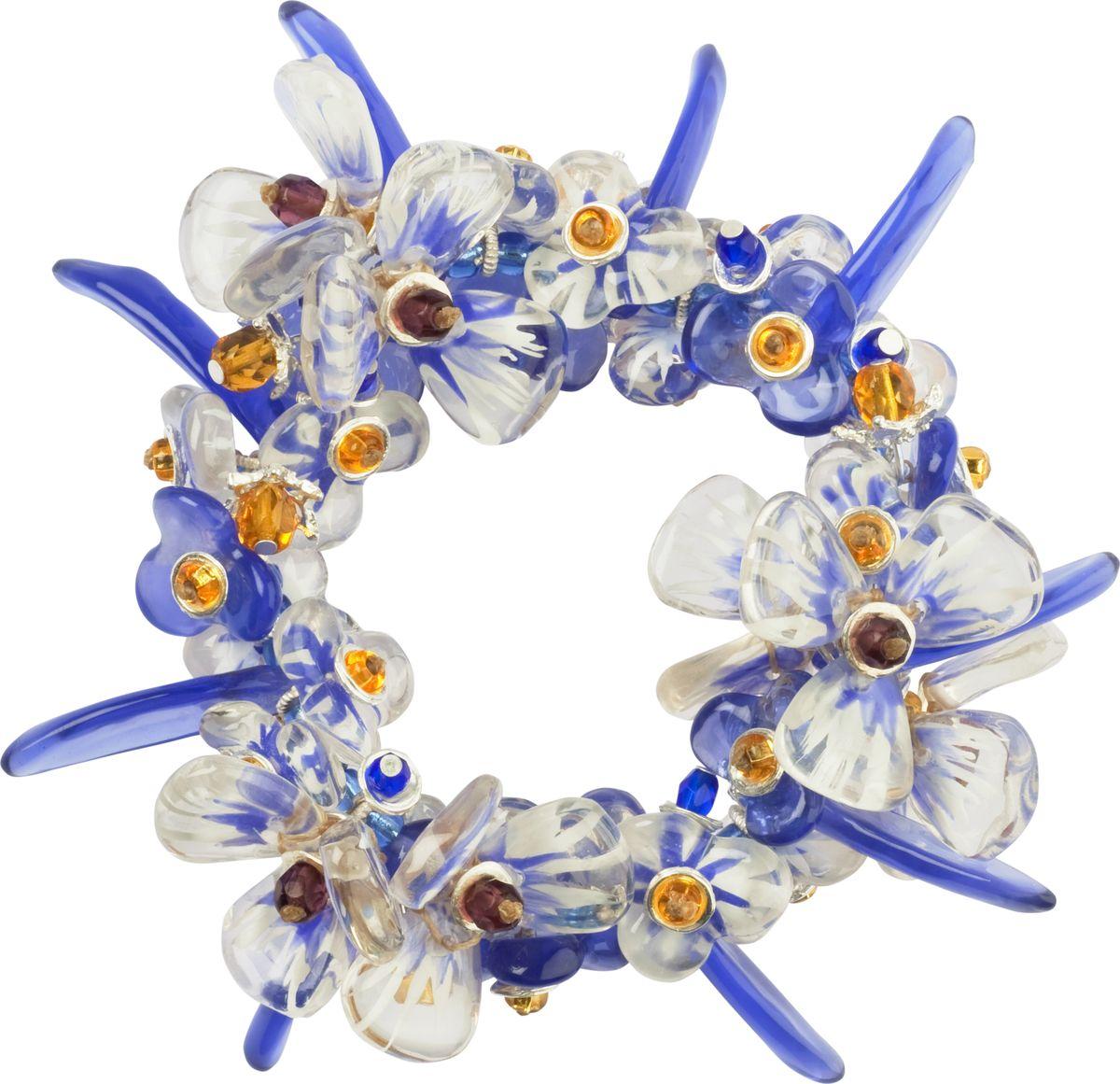 Браслет Lalo Treasures, цвет: синий, прозрачный. B2433/3B2433/3Яркие дизайнерские акссесуары от Lalo Treasures станут отличным дополнением к Вашему стилю