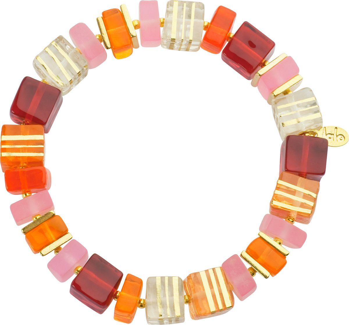 Браслет Lalo Treasures, цвет: оранжевый, красный. B2446/1B2446/1Яркие дизайнерские акссесуары от Lalo Treasures станут отличным дополнением к Вашему стилю