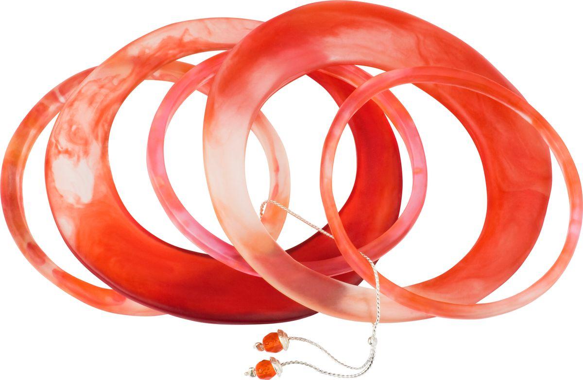 Браслет Lalo Treasures, цвет: красный. Bn2511/1Bn2511/1Оригинальный браслет Lalo Treasures выполнен из ювелирной смолы и металлического сплава. Декоративные элементы собраны на металлическую цепочку с бусинами. Стильное украшение поможет дополнить любой образ и привнести в него завершающий яркий штрих.