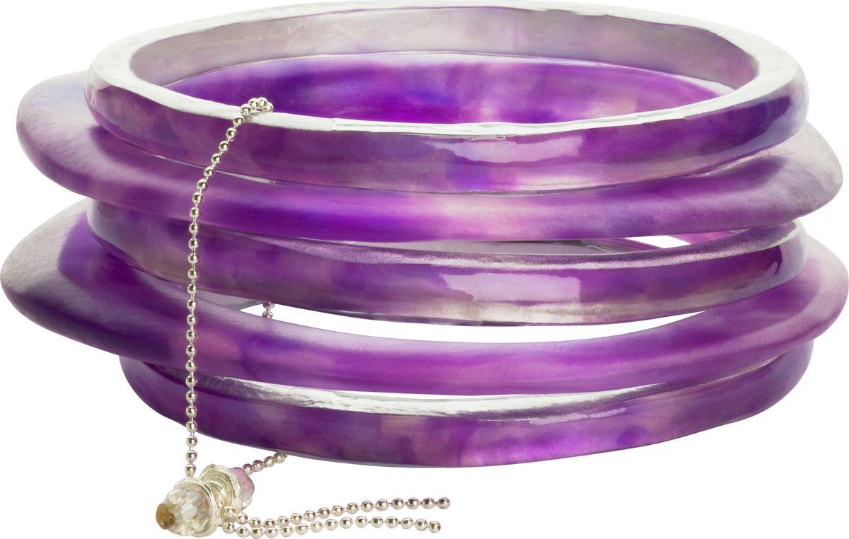 Браслет Lalo Treasures, цвет: фиолетовый. Bn2529/2Bn2529/2Яркие дизайнерские акссесуары от Lalo Treasures станут отличным дополнением к Вашему стилю
