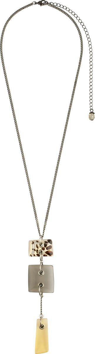 Кулон Lalo Treasures, цвет: серый, светло-коричневый. P4466/2P4466/2Яркие дизайнерские акссесуары от Lalo Treasures станут отличным дополнением к Вашему стилю