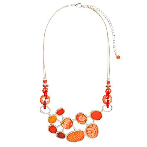 Ожерелье Lalo Treasures, цвет: красный, оранжевый. N1544/2N1544/2Яркие дизайнерские акссесуары от Lalo Treasures станут отличным дополнением к Вашему стилю