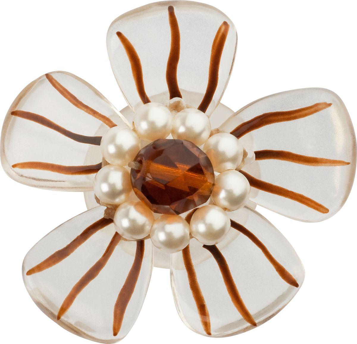 Серьги Lalo Treasures, цвет: белый, коричневый. E3484/2E3484/2Яркие дизайнерские акссесуары от Lalo Treasures станут отличным дополнением к Вашему стилю