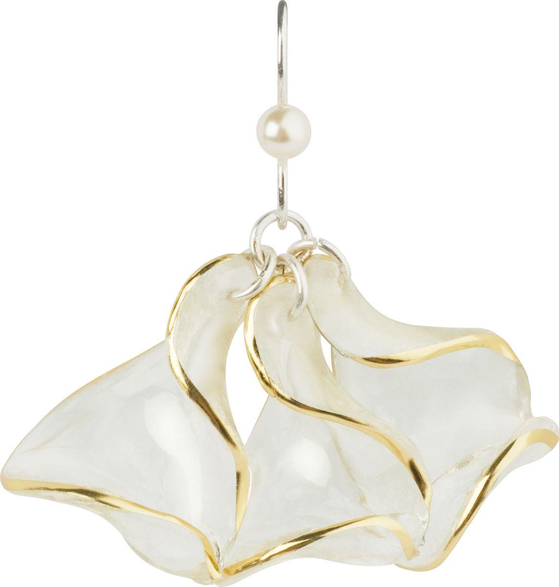 Серьги Lalo Treasures, цвет: белый, золотой. E3521/4E3521/4Оригинальные серьги Lalo Treasures изготовлены из металлического сплава, дополнены декоративными элементами из ювелирной смолы. Изделие застегивается на замок-пряжка, которая надежно зафиксирует серьги. Стильные серьги не оставят равнодушной ни одну любительницу изысканных украшений и помогут создать собственный неповторимый образ.