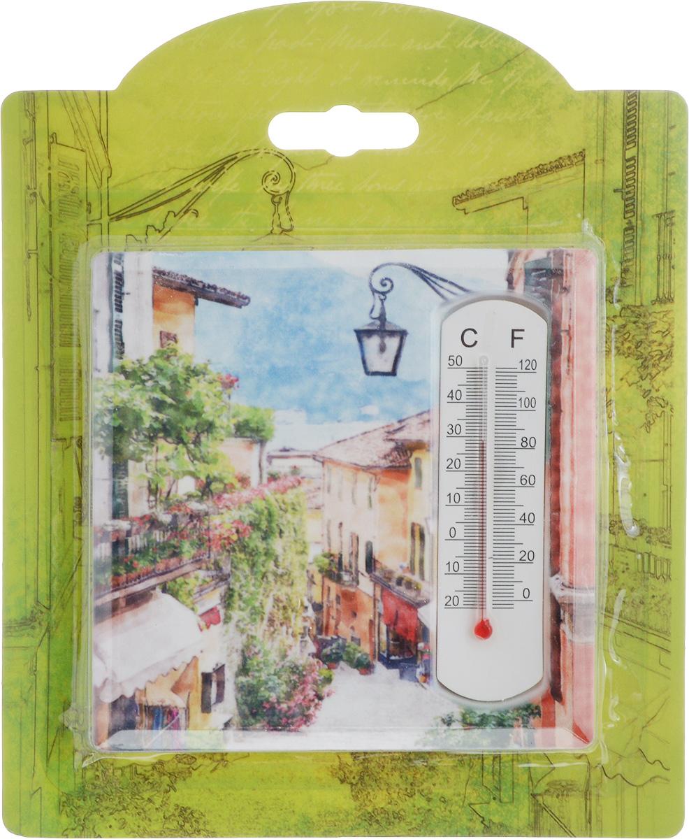 Термометр декоративный Magic Home, 10 х 10 см. 4341043410Комнатный термометр Magic Home, изготовленный из фаянса, декорирован оригинальным изображением. Термометр имеет шкалу измерения температуры по Цельсию (-20°С - +50°С) и по Фаренгейту (-0°F - +120°F). Благодаря такому термометру вы всегда будете точно знать, насколько тепло в помещении. Изделие оснащено специальной петелькой для подвешивания и ножкой для расположения на столе. Оригинальный дизайн не оставит равнодушным никого. Термометр удачно впишется в обстановку жилого помещения.