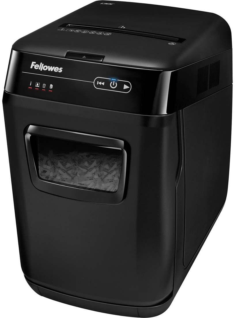 Fellowes AutoMax 130C, Black шредерFS-46801AutoMax™ 130C – Компактный шредер с автоподачей документов для использования в малом офисе. Рекомендуемая нагрузка до 260 листов в день. Загрузка лотка - 130 листов. Перекрестная резка на фрагменты размером 4х51 мм соответствуют P-3 уровню секретности по DIN 66399. Шредер с автоподачей полностью пользователя от участия в уничтожении. Достаточно загрузить стопку документов в удобно расположенный лоток, нажать кнопку старт и вы можете быть свободны. Благодаря инновационной технологии accufeed уничтожение произойдет в полностью автоматическом режиме.
