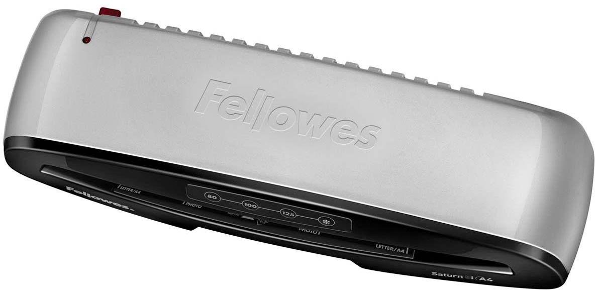 Fellowes Saturn 3i A4 ламинаторFS-57248Saturn 3i А4 – ламинатор последнего поколения с быстрым нагревом за 1 мин. Saturn 3i А4 отличается современным дизайном и предназначен для работы с пленками толщиной до 125 мкм и форматом до А4. Ламинатор обладает 3 режимами горячего и режимом холодного ламинирования. Корпус ламинатора не перегревается и безопасен при прикосновении. Датчики автоматически определяют возможное замятие и останавливают процесс ламинирования для изъятия документа. Используйте ламинатор Saturn 3i на работе и дома. Он позволяет надежно заламинировать документы, презентационные и рекламные материалы, фотографии, грамоты, рисунки, открытки, визитки, инструкции и многое другое. Стартовый набор включает пленку для ламинирования 10 документов. Основные характеристики: Диапазон плёнок 75 – 125 мкм Скорость ламинирования 30 см/мин. Время нагрева - 1 мин 3 горячих режима и 1 холодный. Гарантия 2 года Технологии: InstaHeat быстрый старт за 60 секунд! Jam Free механизм ClearPath обеспечивает 100% работу...