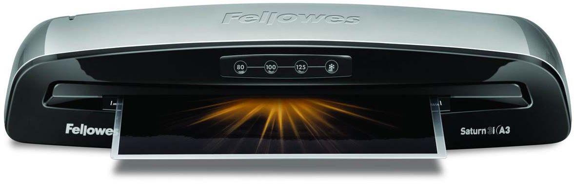 Fellowes Saturn 3i A3 ламинаторFS-57360Saturn 3i А3 – ламинатор последнего поколения с быстрым нагревом за 1 мин. Ламинатор Saturn 3i А3 отличается современным дизайном и предназначен для работы с пленками толщиной до 125 мкм и форматом до А3. Ламинатор обладает 3 режимами горячего и 1 режимом холодного ламинирования. Корпус ламинатора не перегревается и безопасен при прикосновении. Датчики автоматически определяют возможное замятие и останавливают процесс ламинирования для изъятия документа. Используйте ламинатор Saturn 3i на работе и дома. Он позволяет надежно заламинировать документы, презентационные и рекламные материалы, фотографии, грамоты, рисунки, открытки, визитки, инструкции и многое другое. Стартовый набор включает пленку для ламинирования 10 документов. Основные характеристики: Диапазон плёнок 75 – 125 мкм Скорость ламинирования 30 см/мин. Время нагрева - 1 мин 3 горячих режима и 1 холодный Гарантия 2 года Технологии: InstaHeat быстрый старт за 60 секунд! Jam Free механизм ClearPath обеспечивает 100%...