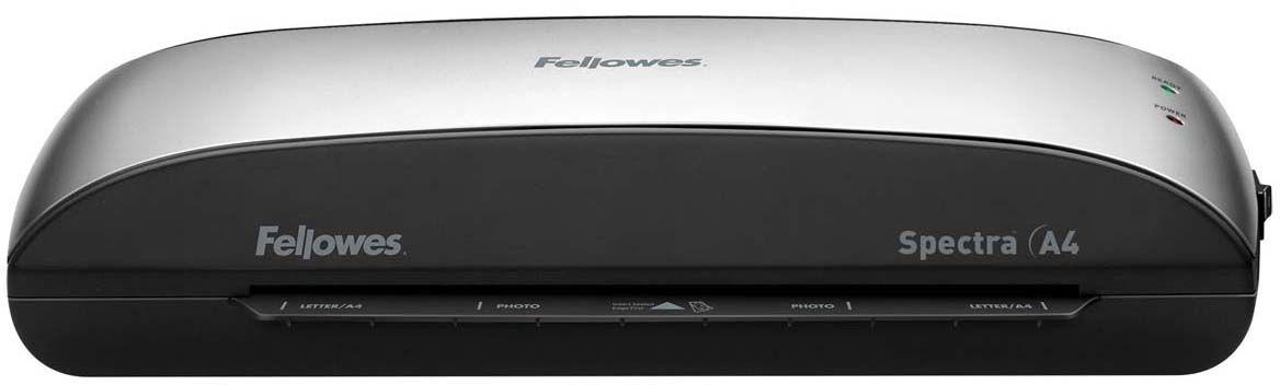 Fellowes Spectra A4 ламинаторFS-57378Spectra A4 – универсальный ламинатор начального уровня для малого или домашнего офиса. Ламинатор Spectra A4 отличается современным компактным корпусом и предназначен для работы с пленками толщиной до 125 мкм. Максимальный формат документа – А4. Ламинатор имеет один универсальный температурный режим. Spectra проста в управлении и не требует дополнительных настроек. Зеленый световой сигнал подскажет о готовности уже через 4 минуты после включения. Рычаг освобождения поможет изъять неправильно поданный документ в ламинатор. Корпус ламинатора не перегревается и безопасен при прикосновении. Ламинатор Spectra A4 позволяет надежно заламинировать документы, презентационные и рекламные материалы, фотографии, грамоты, рисунки, открытки, визитки, инструкции и многое другое. Стартовый набор включает пленку для ламинирования 10 документов. Основные характеристики: Диапазон плёнок 75 – 125 мкм Скорость ламинирования 30 см/мин. Время нагрева 4 мин. Гарантия 1 год Технологии: Jam Free...