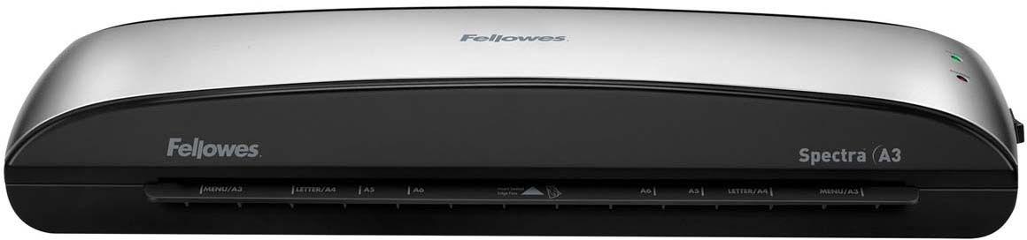 Fellowes Spectra A3 ламинаторFS-57383Spectra A3 – универсальный ламинатор начального уровня для малого или домашнего офиса. Ламинатор Spectra A3 отличается современным компактным корпусом и предназначен для работы с пленками толщиной до 125 мкм. Максимальный формат документа – А3. Ламинатор имеет один универсальный температурный режим. Spectra проста в управлении и не требует дополнительных настроек. Зеленый световой сигнал подскажет о готовности уже через 4 минуты после включения. Рычаг освобождения поможет изъять неправильно поданный документ. Корпус ламинатора не перегревается и безопасен при прикосновении. Ламинатор Spectra A3 позволяет надежно заламинировать документы, презентационные и рекламные материалы, фотографии, грамоты, рисунки, открытки, визитки, инструкции и многое другое. Стартовый набор включает пленку для ламинирования 10 документов. Основные характеристики: Диапазон плёнок 75 – 125 мкм Скорость ламинирования 30 см/мин. Время нагрева -4 мин. Гарантия 1 год Технологии: Jam Free механизм...