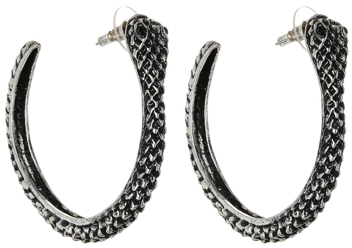 Серьги Art-Silver, цвет: серебряный. 36672-28636672-286Серьги-кольца Art-Silver выполнены из бижутерного сплава. Декоративный элемент дополнен вставками из циркона. Изделие застегивается с помощью замка-гвоздика с заглушкой.