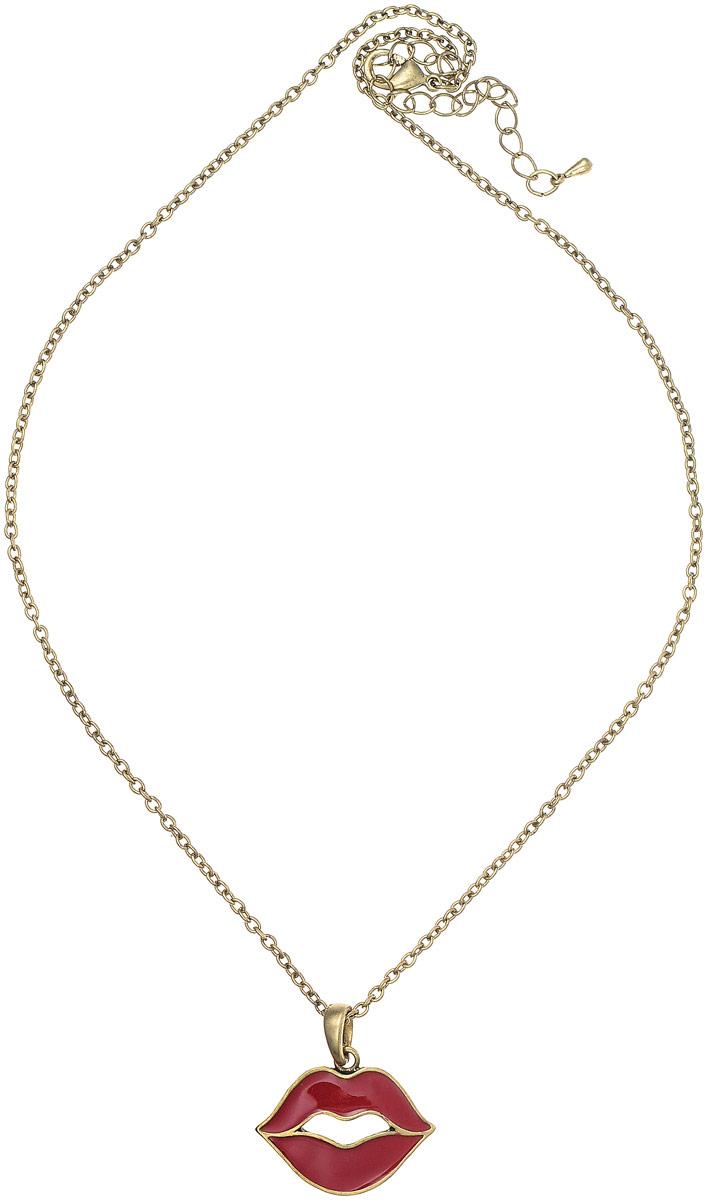Кулон Art-Silver, цвет: золотой. 43341-24043341-240Кулон Art-Silver выполнен из позолоченного бижутерного сплава, дополнен эмалированной подвеской в виде губ. Модель застегивается на карабин и регулируется по длине.