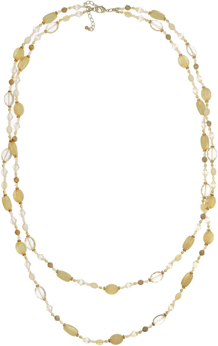 Ожерелье Art-Silver, цвет: бледно-зеленый. АКЦ25887-542АКЦ25887-542Ожерелье Art-Silver выполнено из бижутерного сплава, бисером, бусинами и кристаллами. Модель состоит из двух ярусов, застегивается на карабин и регулируется по длине.