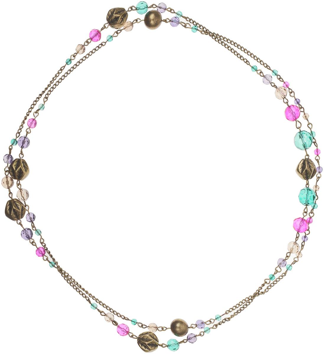 Ожерелье Art-Silver, цвет: золотой. 44097-39644097-396Ожерелье Art-Silver выполнено из бижутерного сплава, оформлено крупными бусинами и кристаллами. Модель застегивается на карабин и регулируется по длине.