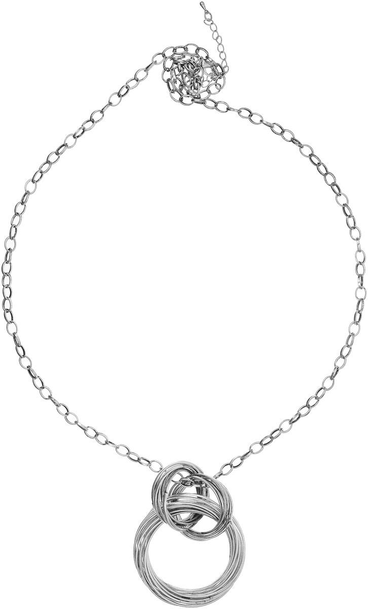 Колье Art-Silver, цвет: серебряный. 43907-29243907-292Колье Art-Silver выполнено из бижутерного сплава. Цепочка крупного плетения дополнена массивным элементом из колец. Модель застегивается на карабин, регулируется по длине.