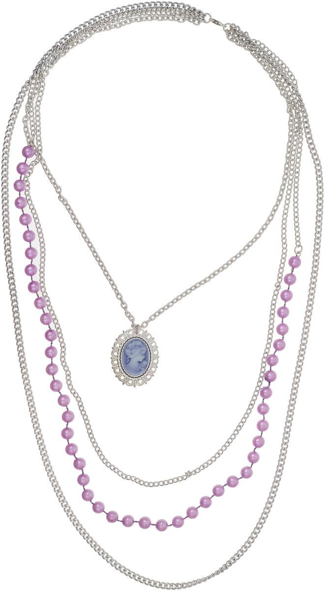 Колье Art-Silver, цвет: серебряный. 7547-3387547-338