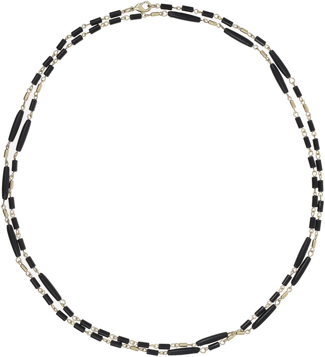 Ожерелье Art-Silver, цвет: черный. 25770-27625770-276Ожерелье Art-Silver выполнено из бижутерного сплава, оформлено крупными бусинами и цепочками с мелким плетением. Модель застегивается на карабин и регулируется по длине.