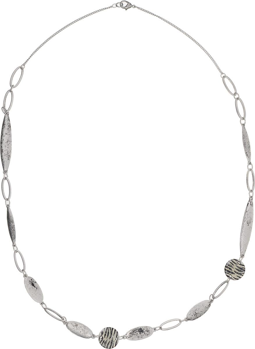 Ожерелье Art-Silver, цвет: серебряный. 25910-52625910-526Ожерелье Art-Silver выполнено из бижутерного сплава и оформлено оригинальными элементами. Модель застегивается на карабин.