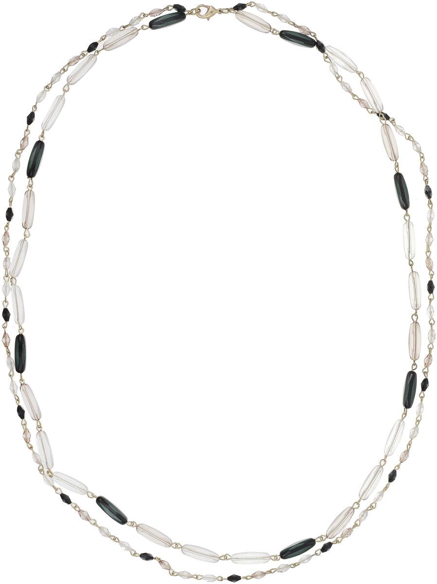 Ожерелье Art-Silver, цвет: черный, прозрачный. 25903-33425903-334Ожерелье Art-Silver выполнено из бижутерного сплава и дополнено элементами из полимера. Модель состоит из двух ярусов и застегивается на карабин.