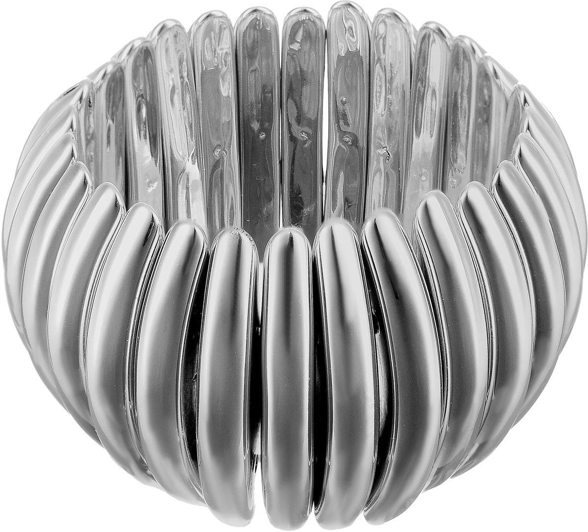 Браслет женский Art-Silver, цвет: серебряный. 14240-56814240-568Браслет Art-Silver выполнен из бижутерного сплава и полимера. Модель на эластичной резинке.