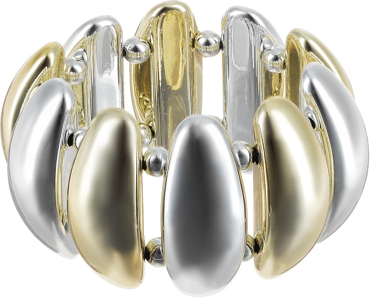 Браслет женский Art-Silver, цвет: золотой. 6697-3326697-332Браслет Art-Silver выполнен из бижутерного сплава и полимера, дополнен позолоченными элементами. Модель на эластичной резинке.