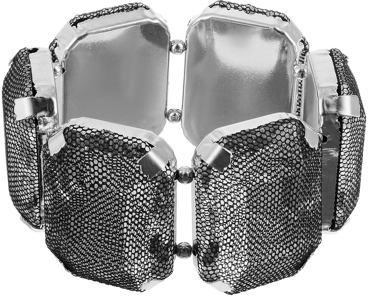 Браслет женский Art-Silver, цвет: серебряный, черный. 13096-23413096-234Браслет Art-Silver выполнен из бижутерного сплава и крупных кристаллов, дополненных сетчатым покрытием. Модель на эластичной резинке.