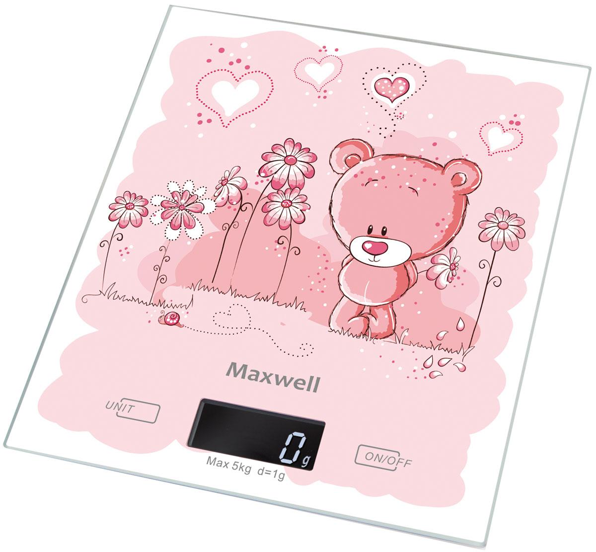 Maxwell MW-1477(PK) весы кухонныеMW-1477(PK)Кухонные электронные весы Maxwell MW-1477(PK) - незаменимый помощник современной хозяйки. Они помогут точно взвесить любые продукты и ингредиенты. Кроме того, позволят людям, соблюдающим диету, контролировать количество съедаемой пищи и размеры порций. Предназначены для взвешивания продуктов с точностью измерения 1 грамм. Размер весов: 20 см х 18 см Размер дисплея: 4,58 см х 1,7 см
