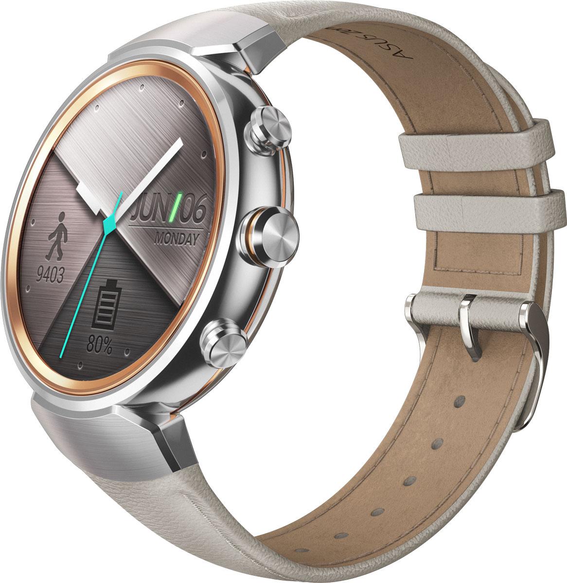 ASUS ZenWatch 3 WI503Q, Beige смарт-часыWI503Q-2LBGE0006ASUS ZenWatch 3 - это современное цифровое устройство, выполненное в соответствии с давними традициями часового искусства из высококачественных материалов и с вниманием к каждой детали. Эти часы умеют делать гораздо больше, чем просто показывать время, а благодаря широким возможностям по персонализации их интерфейса вы легко можете настроить их по своему вкусу. Длительное время автономной работы и технология быстрой подзарядки аккумулятора делают ASUS ZenWatch 3 по-настоящему мобильным устройством, которое всегда будет готово к работе. Своим внешним видом ASUS ZenWatch 3 ближе к традиционным часам, чем к современным цифровым гаджетам. Их стильный дизайн вдохновлен образом солнечного затмения, а широчайшая функциональность реализована с безупречным мастерством. Корпус часов ZenWatch 3 изготовлен из ювелирной нержавеющей стали марки 316L, которая наделяет их не только превосходным внешним видом, но и долговечностью, ведь ее прочность на 82% выше по...