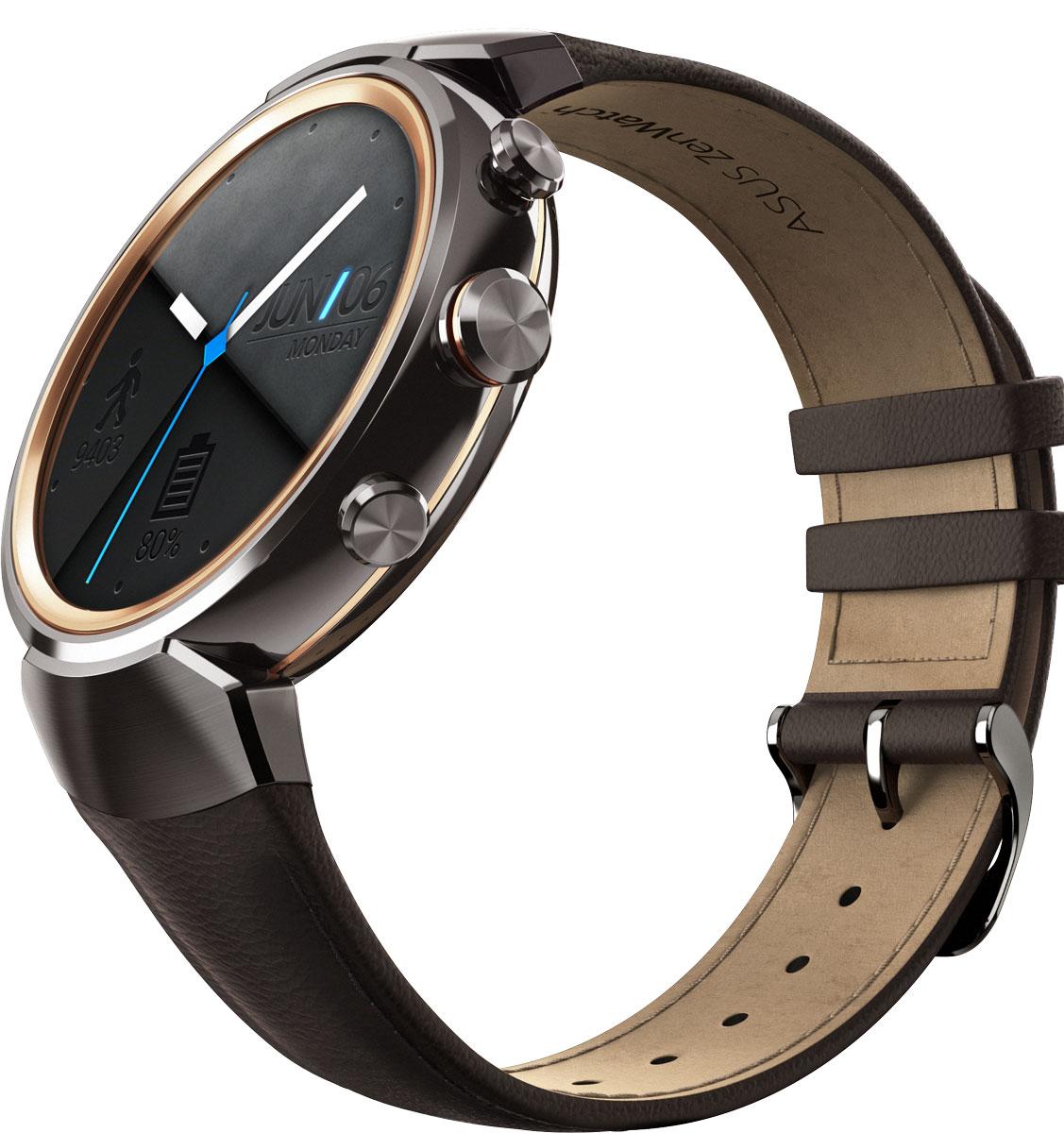 ASUS ZenWatch 3 WI503Q, Brown смарт-часыWI503Q-1LDBR0008ASUS ZenWatch 3 – это современное цифровое устройство, выполненное в соответствии с давними традициями часового искусства из высококачественных материалов и с вниманием к каждой детали. Эти часы умеют делать гораздо больше, чем просто показывать время, а благодаря широким возможностям по персонализации их интерфейса вы легко можете настроить их по своему вкусу. Длительное время автономной работы и технология быстрой подзарядки аккумулятора делают ASUS ZenWatch 3 по-настоящему мобильным устройством, которое всегда будет готово к работе. Своим внешним видом ASUS ZenWatch 3 ближе к традиционным часам, чем к современным цифровым гаджетам. Их стильный дизайн вдохновлен образом солнечного затмения, а широчайшая функциональность реализована с безупречным мастерством. Корпус часов ZenWatch 3 изготовлен из ювелирной нержавеющей стали марки 316L, которая наделяет их не только превосходным внешним видом, но и долговечностью, ведь ее прочность на 82% выше по...