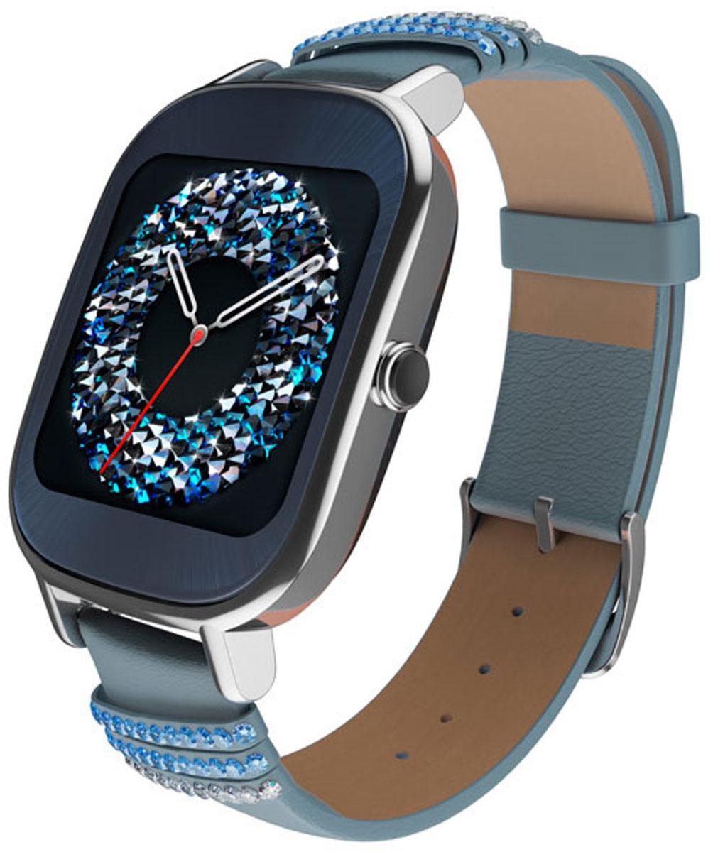 ASUS ZenWatch 2 WI502Q(BQC) Swarovski, Blue смарт-часыWI502Q(BQC)-1LSVK0012ASUS ZenWatch 2 - традиции и инновации в одном стильном устройстве. ZenWatch 2 - это стильные часы с мощной функциональностью. Корпус часов изготавливается из высококачественной нержавеющей стали. Отражая традиционный дизайн часов, на корпусе ZenWatch 2 имеется металлическая кнопка, которая используется в качестве элемента управления. Помимо 50 стандартных циферблатов можно создавать свои собственные варианты оформления экрана часов с помощью приложения FaceDesigner. С помощью часов ZenWatch 2 можно легко обмениваться короткими текстовыми сообщениями, смайликами и рисунками с друзьями и близкими. Просматривайте важную информацию и реагируйте на нее простым прикосновением к экрану или с помощью голосовой команды. Встроенный в часы шагомер обладает высокой точностью, позволяя пользователю следить за своей физической активностью и прогрессом в достижении фитнес-целей. Также имеется функция мониторинга сна. ...