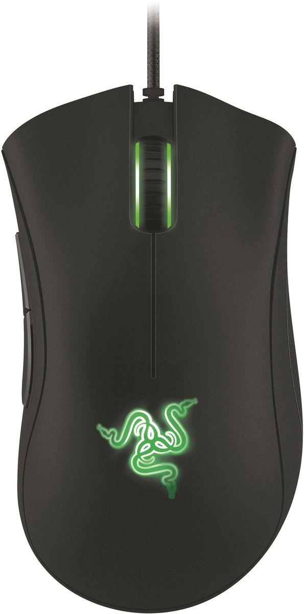 Razer DeathAdder Essential игровая мышьRZ01-00840100-R3G1Razer DeathAdder™ - это настоящее легендарное оружие для геймеров, ищущих комбинацию комфорта и непревзойденной игровой точности. Эргономичная форма мыши для правой руки обеспечивает длительную комфортную игру. Разрешение 6400dpi нового оптического сенсора 4G (четвертое поколение) обеспечит вам попиксельную точность. Это не просто мышь, это пожиратель фрагов! Со времён самой первой модификации мышь Razer DeathAdder обеспечивает геймерам ни с чем не сравнимый комфорт. Её изгибы и контуры доведены до совершенства. Мышь удобно ложится в ладонь — но не менее легко управляется кончиками пальцев. Две большие основные кнопки требуют минимальных усилий. Обновлённая Razer DeathAdder оборудована 4G сенсором с разрешением 6400 dpi — это самый точный оптический датчик из всех, что ставятся на современные игровые мыши без интерполяции. Он способен улавливать движения мыши, выполненные со скоростью до 500 метров в секунду и с ускорением до 50g. То есть, как бы быстро ни перемещалась мышь,...