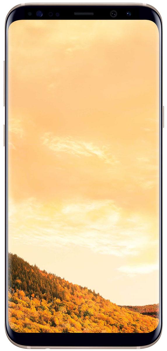 Samsung Galaxy S8+ SM-G955, GoldSM-G955FZDDSERSamsung Galaxy S8+ переворачивает представление о классическом дизайне смартфона. Безграничный изогнутый с двух сторон экран подчеркивает гармонию стиля и инноваций. Главная особенность дизайна - это практически полное отсутствие боковых рамок и закругленные края экрана. Какую бы из диагоналей 5,8 или 6,2 вы не выбрали - благодаря симметричному дизайну и эргономике им будет удобно пользоваться даже одной рукой. Увеличенный экран Samsung Galaxy S8+ идеально подходит для многозадачности. Переписывайтесь с друзьями, не отрываясь от просмотра любимого фильма. Все что нужно - просто открыть чат в режиме многозадачности. Кнопки Домой, Назад и Недавние приложения теперь виртуальные и перенесены на экран. При нажатии они откликаются аналогично классическим, однако имеют более расширенный функционал. Теперь иконки имеют логическую цветовую окраску, так что вы можете идентифицировать приложение в одно мгновение. Цвета и линии...