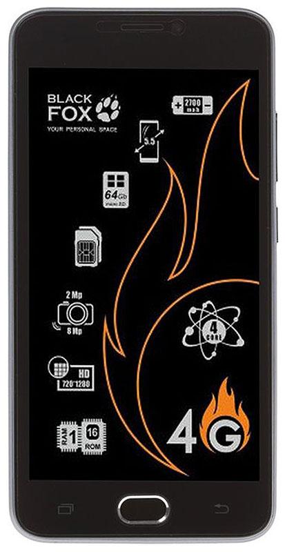 Black Fox BMM 541S, Silver4627102591036Смартфон Black Fox BMM 541S имеет сенсорный IPS-экран с диагональю 5 дюймов, что обеспечивает комфорт при серфинге в интернете, просмотре видео и играх. Данная модель оснащена мощным 4-ядерным процессором и оперативной памятью 1 ГБ, что обеспечивает быстродействие устройства даже в режиме многозадачности. Black Fox BMM 541S поддерживает 2 SIM-карты, поэтому смартфон можно использовать в качестве личного и рабочего одновременно. Тыловая камера 5 Мпикс позволяет делать качественные фото и снимать видео, а фронтальная камера 2 Мпикс обеспечивает видеосвязь и яркие селфи. Смартфон поддерживает карты памяти объемом до 32 ГБ, что позволяет хранить всю необходимую информацию, включая фото, видео и музыку. Поддержка интернета 3G/4G позволяет оставаться на связи даже там, где нет Wi-Fi. Телефон сертифицирован EAC и имеет русифицированный интерфейс меню и Руководство пользователя.