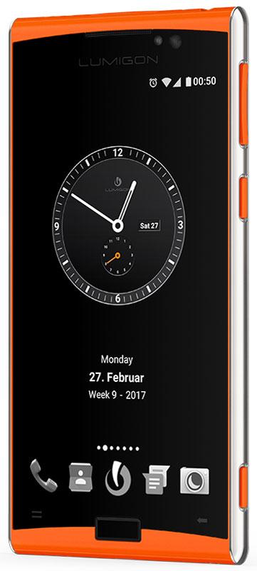 Lumigon T3 Standard, Steel Orange5711860000271Премиальный смартфон Lumigon T3 изготовлен из корабельной нержавеющей стали 316 и ударопрочного стекла Corning Gorilla Glass 4. Каждая уникальная функция была создана для удовлетворения реальных каждодневных потребностей. Каждая черта дизайна и выбор материала тщательно продумывается для того, чтобы служить практическим целям. Замечательная камера 13MP/4K камера с двухтонной вспышкой и очень быстродействующей технологией PDAF (система фазовой автофокусировки / Phase Detection Autofocus). Специальная кнопка для камеры сбоку обеспечивает быстрый доступ к камере, при этом кнопки громкости могут использоваться для уменьшения и увеличения. Контролируемый жестами дисплей BackTouch может использоваться для пролистывания фотографий и прокрутки веб-сайтов. Использование интегрированной камеры с технологией BackTouch является очень удобным для того, чтобы делать селфи. Клавиша действия ActionKey может быть настроена для включения / выключения вспышки,...